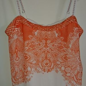 Anthropologie One September Embroidered Flowy Tank
